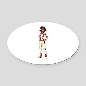 wonder woman girl Oval Car Magnet