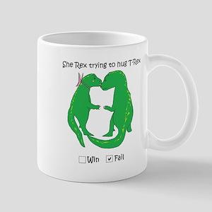 She Rex Trying To Hug T-Rex Mugs