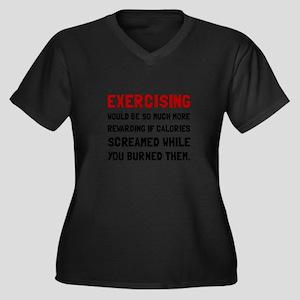 Exercising Calories Screamed Plus Size T-Shirt