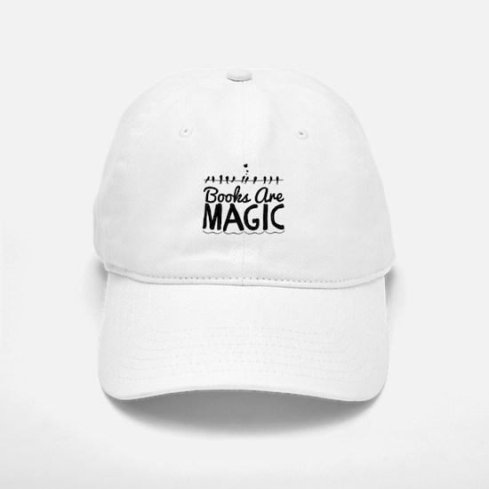 Books Are Magic Baseball Baseball Cap