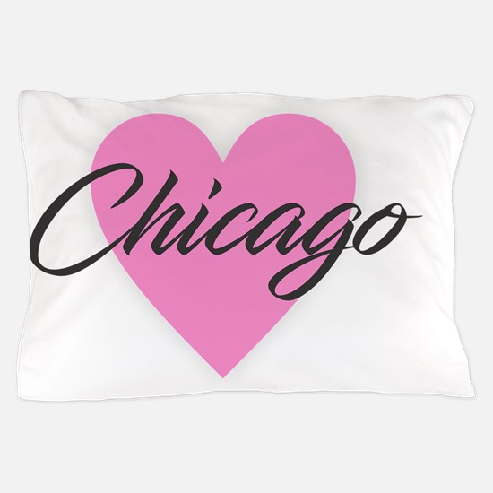 I Heart Chicago Pillow Case