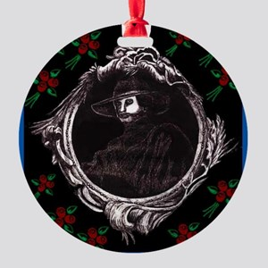 Phantom, (with Red Roses) Round Ornament