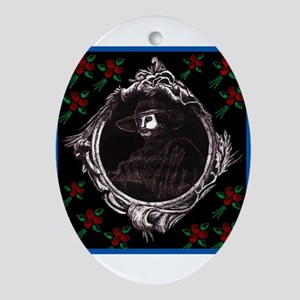 Phantom (with Red Roses) ~ Oval Ornament