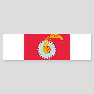 Japanese Communist Flag Bumper Sticker