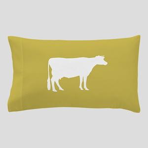 Cow: Mustard Yellow Pillow Case