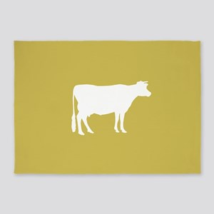 Cow: Mustard Yellow 5'x7'Area Rug