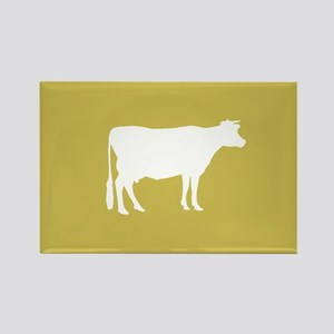 Cow: Mustard Yellow Rectangle Magnet