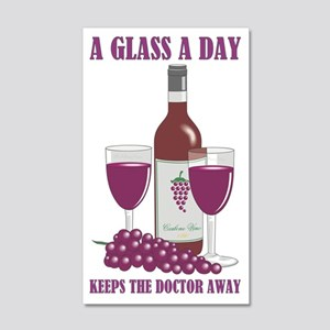 A GLASS A DAY 20x12 Wall Decal