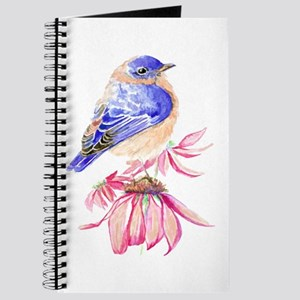 Watercolor Eastern Bluebird beautiful garden bird