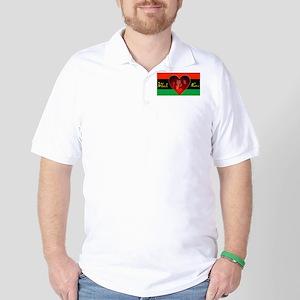Black Love Golf Shirt