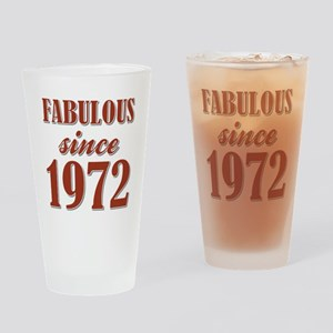 FABULOUS SINCE 1972 Drinking Glass
