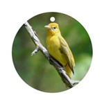 Lady Goldfinch Ornament (Round)