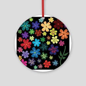 Floral print Round Ornament