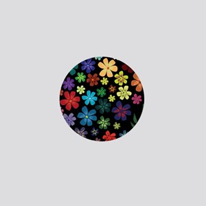 Floral print Mini Button