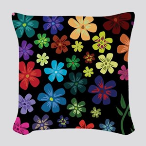 Floral print Woven Throw Pillow
