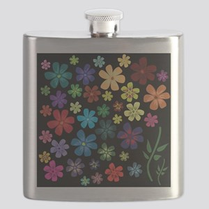 Floral print Flask
