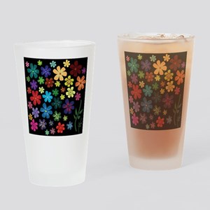 Floral print Drinking Glass
