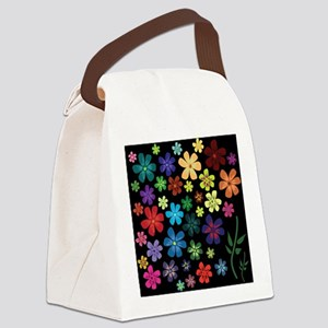Floral print Canvas Lunch Bag