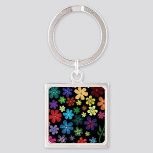 Floral print Keychains