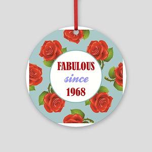 1968 (ROSES) Round Ornament