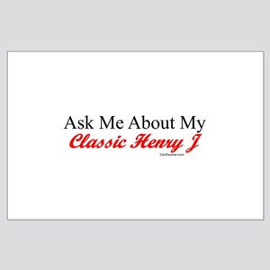 """""""Ask About My Henry J"""" Large Poster"""