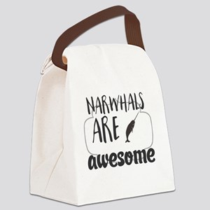 Narwhals are awesome Canvas Lunch Bag
