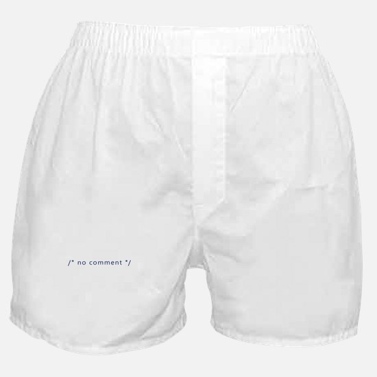 A Coder with No Comment Boxer Shorts