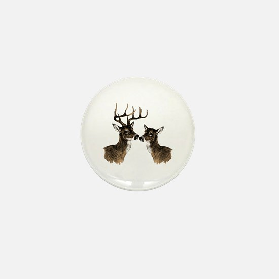 Buck and Doe Mini Button