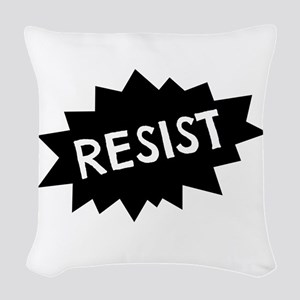 Resist Woven Throw Pillow