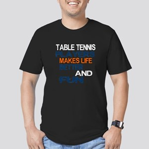 Table Tennis Players M Men's Fitted T-Shirt (dark)