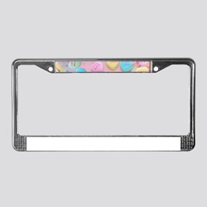 valentines candy hearts License Plate Frame