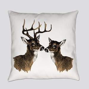 Buck and Doe Everyday Pillow