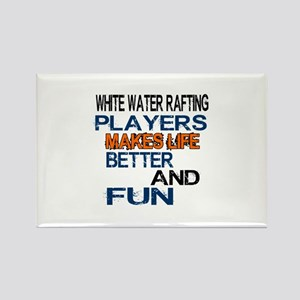 White Water Rafting Players Makes Rectangle Magnet