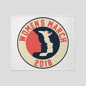 women march 2018 Throw Blanket