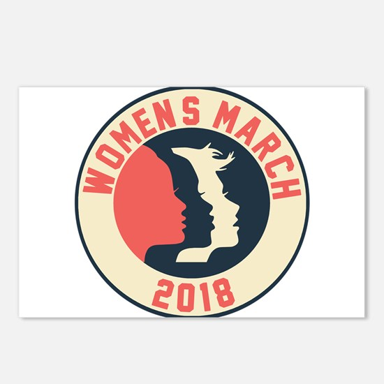 women march 2018 Postcards (Package of 8)