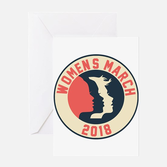women march 2018 Greeting Cards