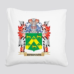 Robinson Coat of Arms - Famil Square Canvas Pillow