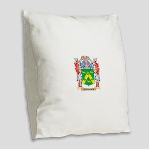 Robinson Coat of Arms - Family Burlap Throw Pillow