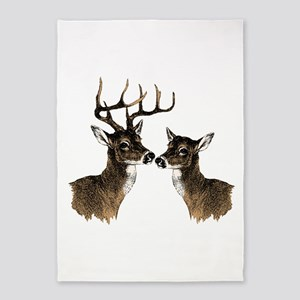 Buck and Doe 5'x7'Area Rug