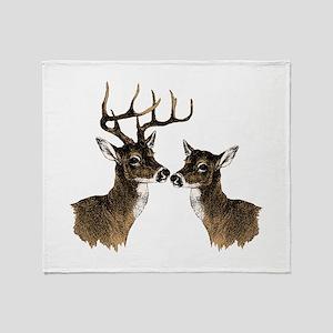 Buck and Doe Throw Blanket