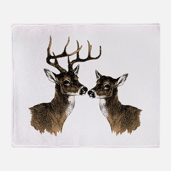 Buck and Doe Throw Blanket