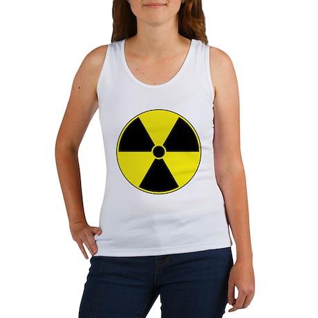 Radiation Symbol (yellow) Women's Tank Top