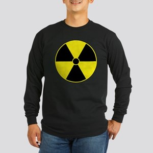 Radiation Symbol (yellow) Long Sleeve Dark T-Shirt
