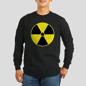 Radiation Symbol (yellow) Long Sleeve Dark T-Shirt