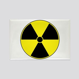 Radiation Symbol (yellow) Rectangle Magnet