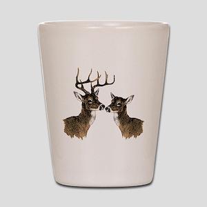 Buck and Doe Shot Glass