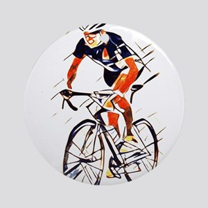 Cyclist Round Ornament