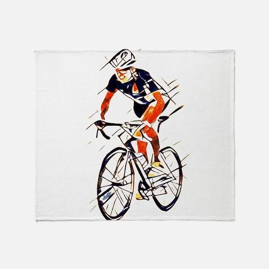 Cyclist Throw Blanket