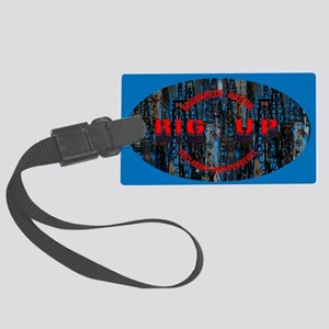 RIG UP CAMO Oilfield Large Luggage Tag