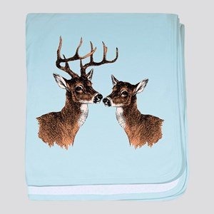 Buck and Doe baby blanket